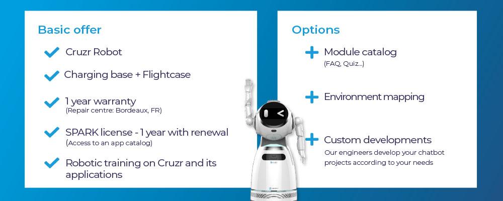 Cruzr Service robot and SPARK software offer