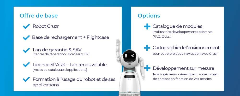 offre robot de service cruzr et logiciel SPARK