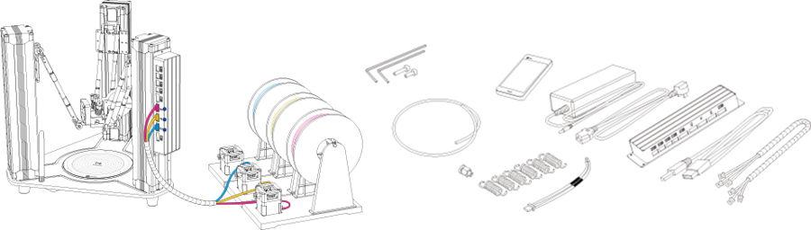 Sketch of the MOOZ-3 3D Printer