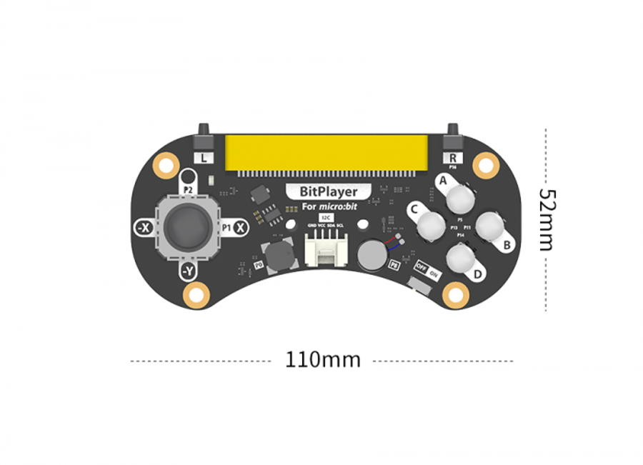 Carte extension BitPlayer pour microbit - Spécifications techniques