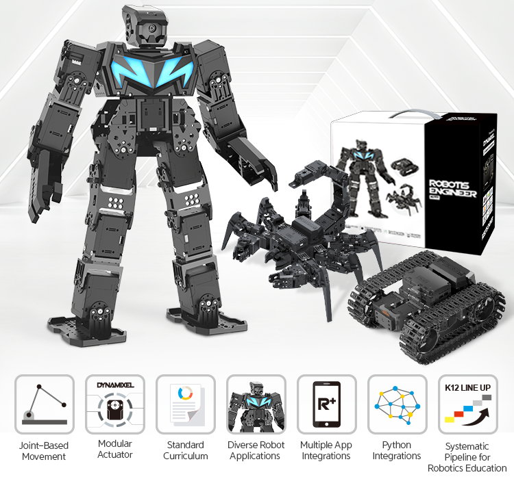 Features of the Robotis Engineer Kit 2 robotic kit