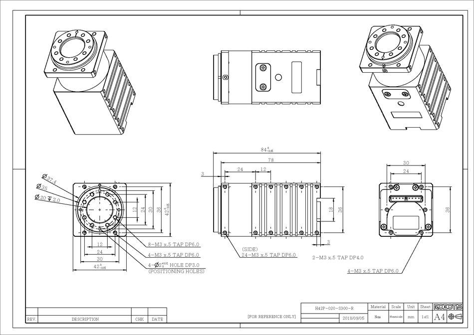 Dynamixel-P H42P-020-S500-R servomotor