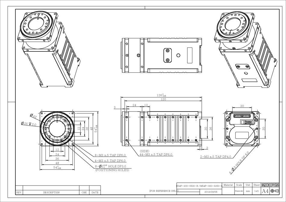 Servomotor Dynamixel-P H54P-200-S500-R