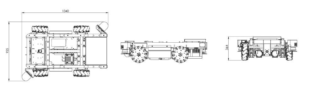 Schematics of the TC200 ROS mobile robot