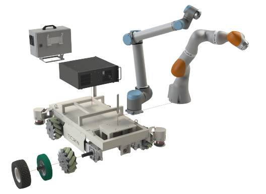 Accessories for the TC200 TECDRON industrial mobile base